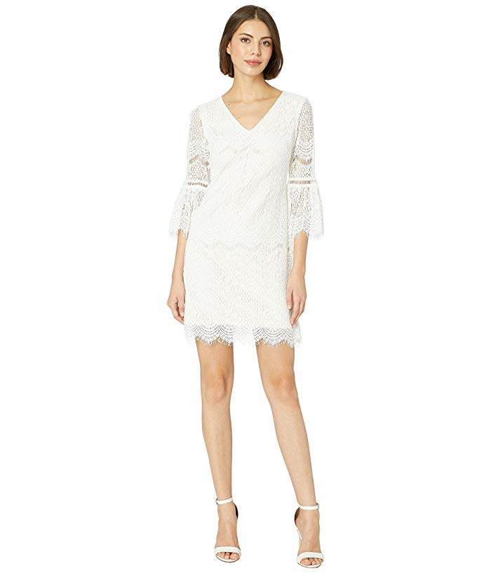 Adrianna Papell Mila Scalloped Lace Shift Dress