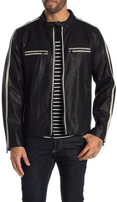 Levi's Racer Stripe Faux Leather Moto Jacket