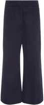 Marni Cotton Linen Flared Cropped Trousers