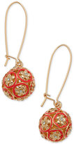 GUESS Gold-Tone Colored Fireball Drop Earrings, a Macy's Exclusive Style