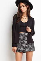 Forever 21 FOREVER 21+ Abstract Geo Mini Skirt