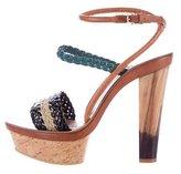 Etro Woven Platform Sandals