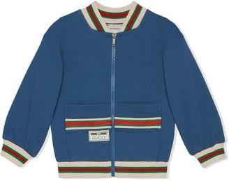 Gucci Kids Web zipped bomber jacket