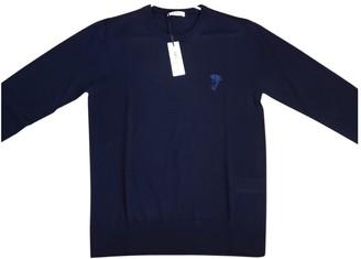 Versace Blue Wool Knitwear & Sweatshirts
