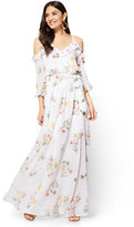 New York & Co. Ruffled Cold-Shoulder Maxi Dress - Floral