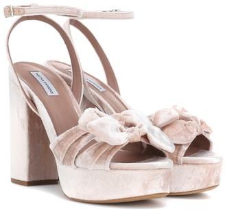 Tabitha Simmons Jodie velvet sandals