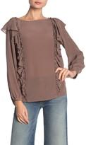 Frye Harper Long Sleeve Silk Blouse