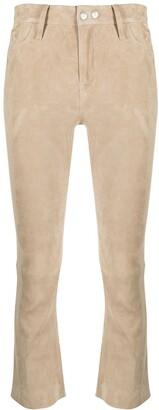 Sylvie Schimmel Suede Skinny-Fit Trousers