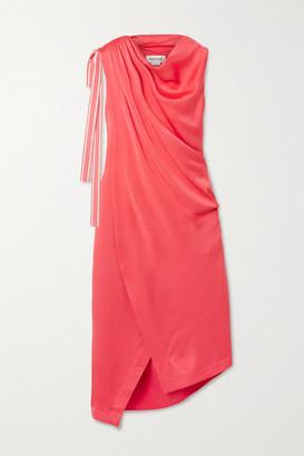 Monse Asymmetric Satin-crepe Dress - Tomato red