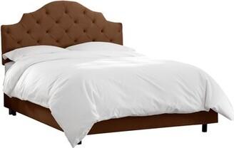 Wayfair Custom UpholsteryTM Tufted Notched Upholstered Standard Bed Wayfair Custom UpholsteryTM Size: California King, Body Fabric: Premier Chocolate