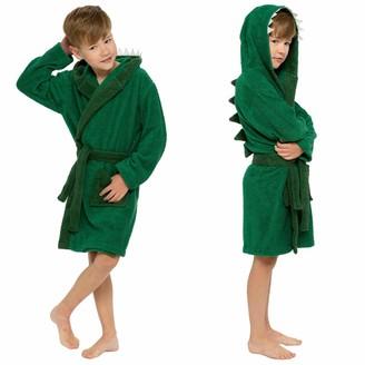 Sock Stack Kids Novelty Hooded Towelling Robe Super Soft 100% Cotton Boys Girls Bathrobe Bath Robes