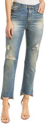 AG Jeans Phoebe 17 Years Lapse Mended High-Rise Tapered Leg