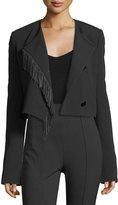 Alexander Wang Cropped Leather-Fringe Jacket
