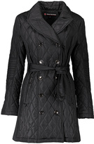Urban Republic Black Back-Flap Quilted Trench Coat