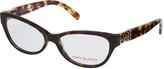 Tory Burch Brown Tortoise Cat-Eye Eyeglasses