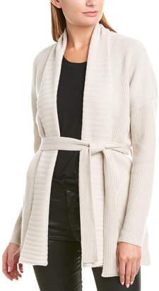 David Lerner Shawl Collar Wool & Cashmere-Blend Cardigan