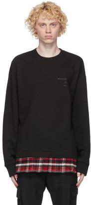 Juun.J Black Layered Sweatshirt