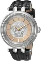 Versace Women's VQE070015 KHAI Analog Display Swiss Quartz Black Watch