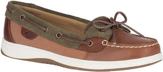 Sperry Top Sider Women's Boat Shoes TAN/OLIVE - Tan& Olive Corduroy Angelfish Leather Boat Shoe - Women