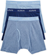 Alfani Men's Knit Tagless Slim Fit Stretch Boxer Briefs 3-Pack, Only at Macy's