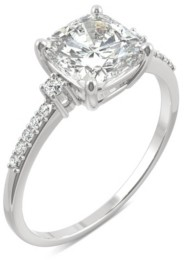 Charles & Colvard Moissanite Cushion Engagement Ring 1-3/4 ct. t.w. Diamond Equivalent in 14k White Gold