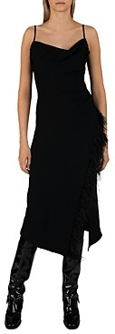 Derek Lam 10 Crosby Nellie Dress with Feathers