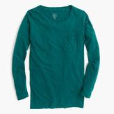 J.Crew Long-sleeve garment-dyed pocket T-shirt