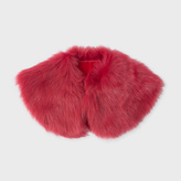 Paul Smith Women's Red Shearling Collar