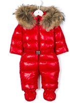 Moncler 'Crystal' fur trim snowsuit