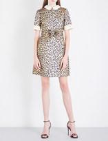 Gucci Leopard jacquard dress