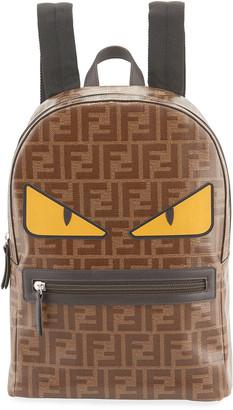 Fendi Kid's FF Print Monster Eyes Backpack