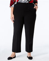 Alfred Dunner Plus Size Wrap It Up Collection Pull-On Straight-Leg Pants