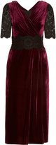 Dolce & Gabbana Lace and velvet midi dress