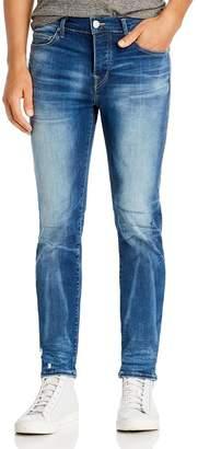 True Religion Rocco Moto Super Stretch Skinny Fit Jeans in Blue