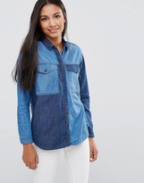 Pepe Jeans Jerry Patchwork Denim Shirt