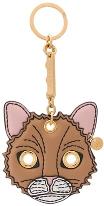 Mulberry Fluffy Cat keyring