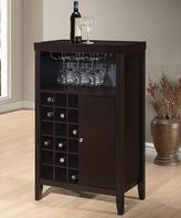 Baxton Studio Dark Brown Wine Cart