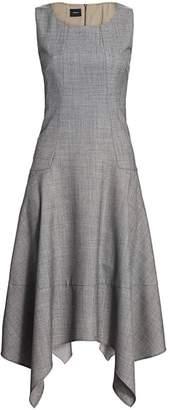 Akris Sleeveless Sharkbite A-Line Dress
