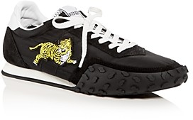 Kenzo Women's Tiger Applique Quilted Lace Up Sneakers