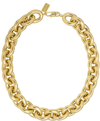 LAUREN RUBINSKI 14K Yellow Gold Extra Large Lucky Gold Links Necklace