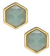 Trina Turk Stone Hexagon Stud Earrings