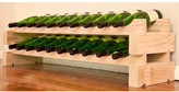 Wine Rack 20 2 Layers of 10 Bottle Width Finish: Natural Pine