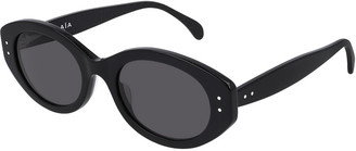 Alaia Oval Acetate Sunglasses