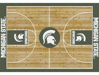 """My Team by Milliken NCAA College Home Court Michigan State Novelty Rug Rug Size: Rectangle 3'10"""" x 5'4"""""""