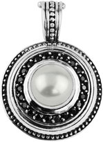 Konstantino Round Spinel & Pearl Pendant Enhancer