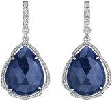Penny Preville 18k Pear-Cut Sapphire & Diamond Drop Earrings