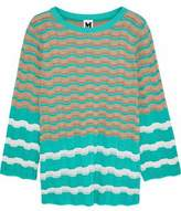 M Missoni Striped Crochet-Knit Top