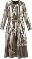 Burberry ruffle-trimmed lamé dress