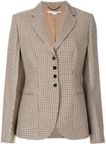 Stella McCartney plaid single-breasted blazer