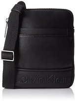 Calvin Klein Bennet Mini Flat Crossover, Men's Cross-Body Bag, Negro ()